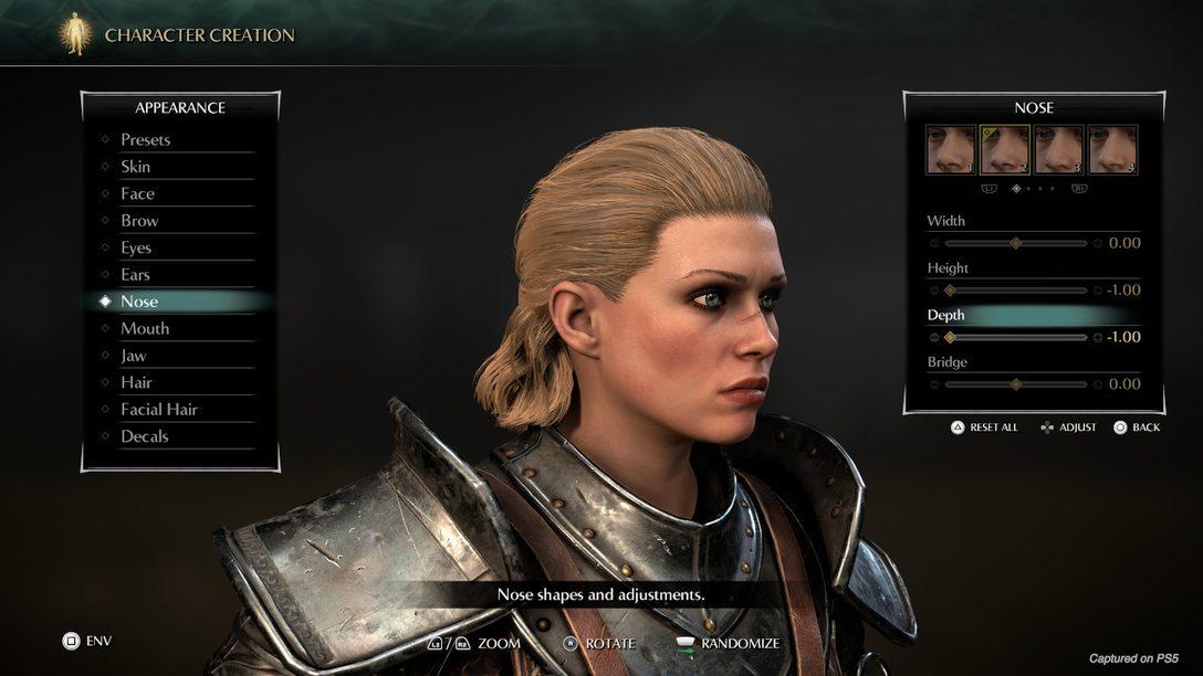 Echa un primer vistazo al creador de personajes y al modo Foto de Demon's Souls