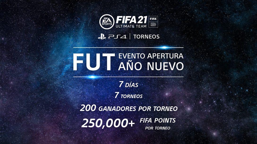 Empieza el año nuevo con FUT de EA SPORTS FIFA 21 en los Torneos PS4