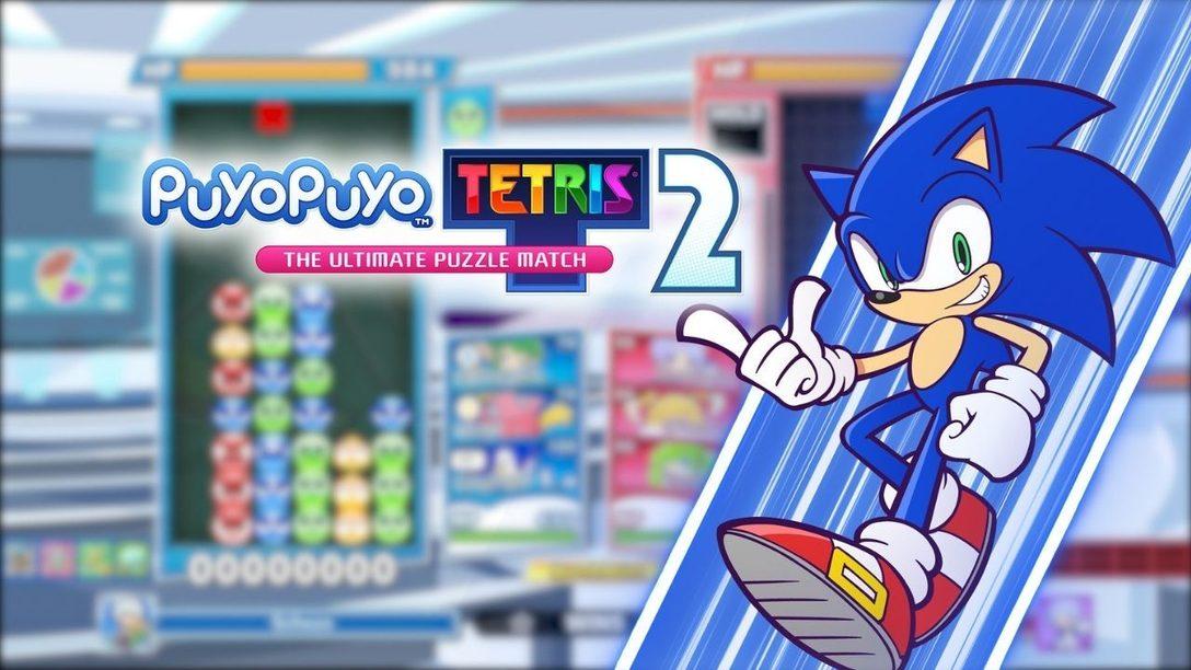 Sonic the Hedgehog llega a toda prisa hoy mismo a Puyo Puyo Tetris 2 con una actualización gratuita