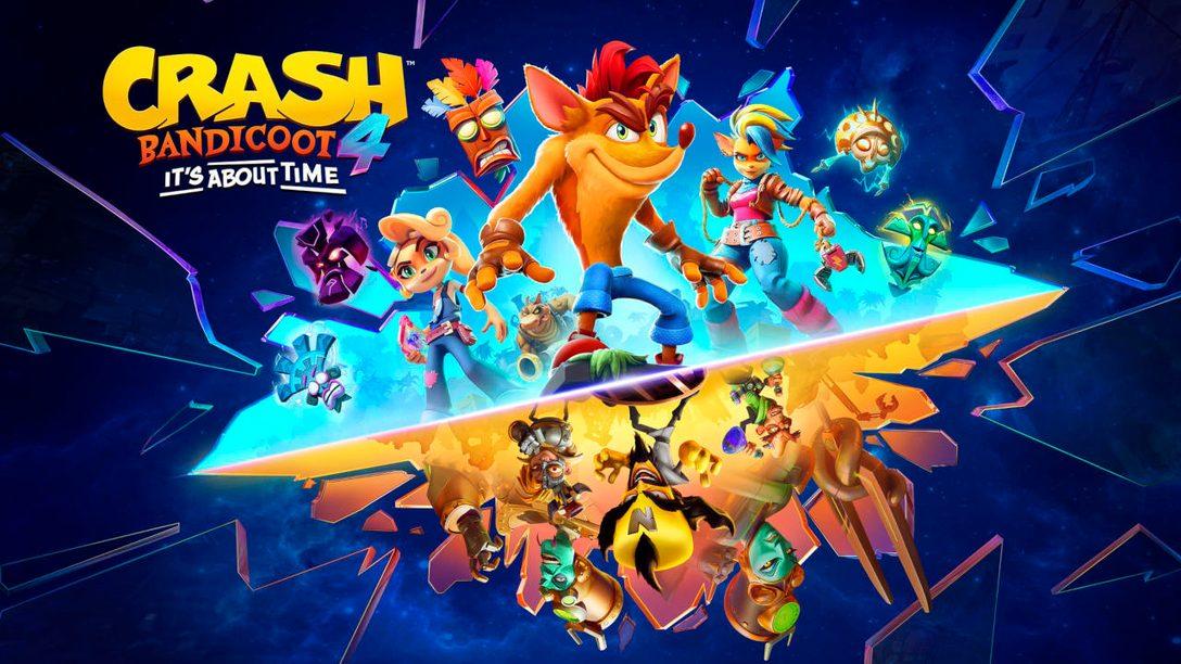 Crash Bandicoot 4: It's About Time llega a PS5 el 12 de marzo
