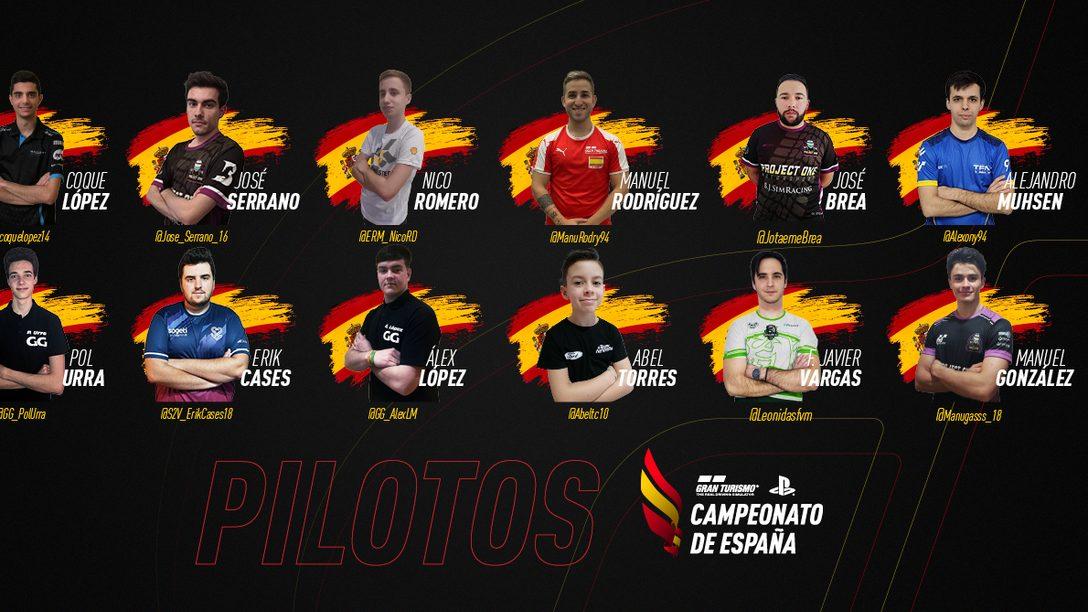 Estos son los pilotos que participarán en el primer Campeonato de España de Gran Turismo
