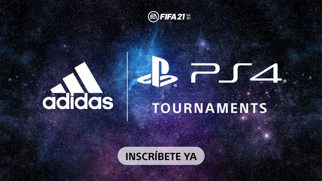 Apúntate al adidas Challenge en nuestros PS4 Tournaments y gana premios jugando con FIFA 21