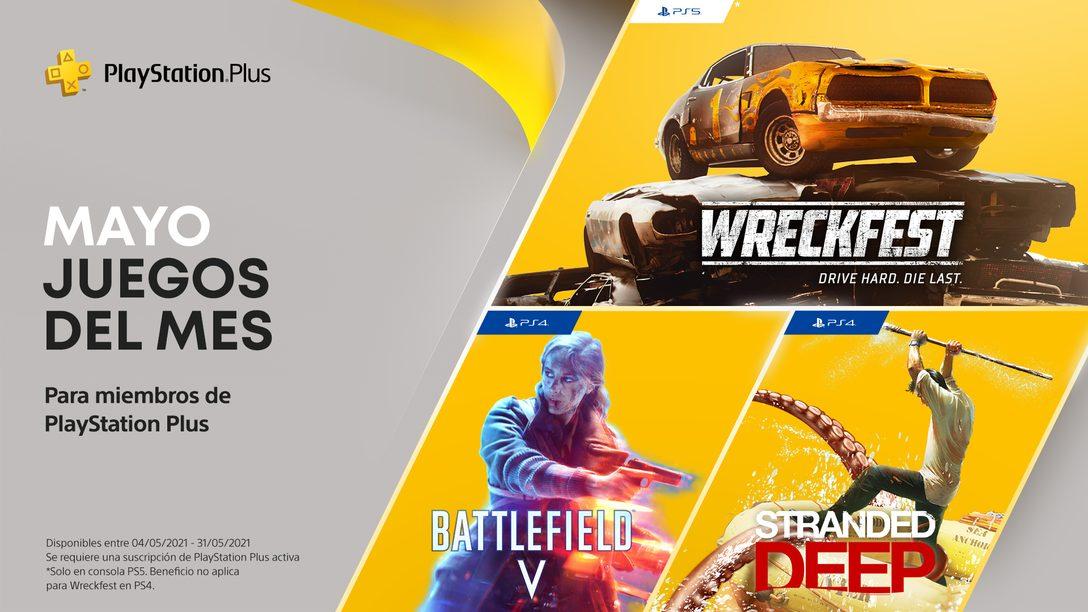 Los juegos de PlayStation Plus para mayo: Battlefield V, Stranded Deep y Wreckfest: Drive Hard Die Last