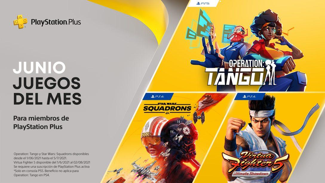 Juegos de PlayStation Plus para junio: Operation: Tango, Virtual Fighter 5: Ultimate Showdown y Star Wars Squadron