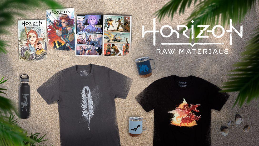 Nuevo merchandising de Horizon Raw Materials: Gear Store y cómics digitales