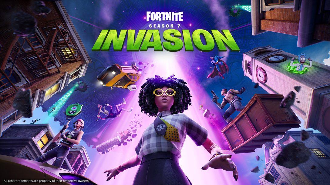 El caos cósmico desciende hasta Fortnite en Capítulo 2 Temporada 7: Invasion