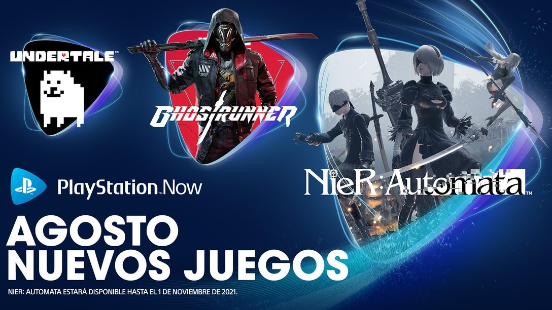 Juegos de PlayStation Now para agosto: NieR: Automata, Ghostrunner, Undertale